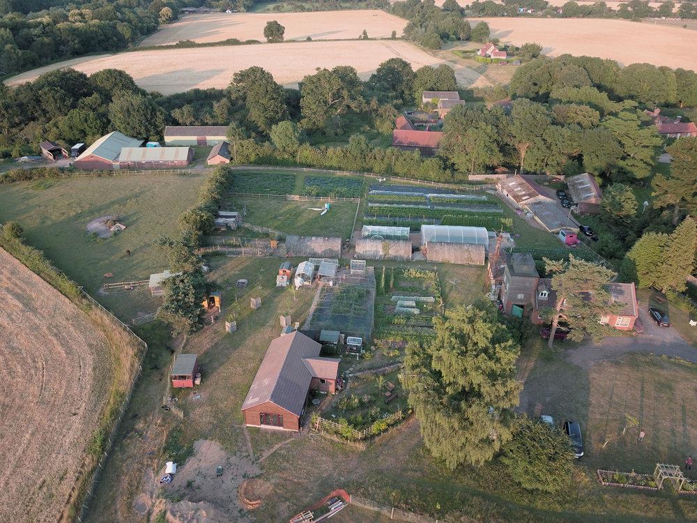 Aerial view of farm 2017
