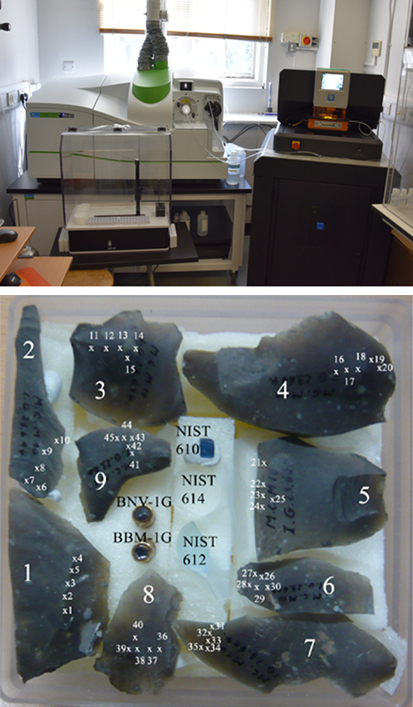 FLINT ARTEFACTS ANALYSED BY LA-ICP-MS (DEPARTMENT OF EARTH SCIENCES, CAMBRIDGE)