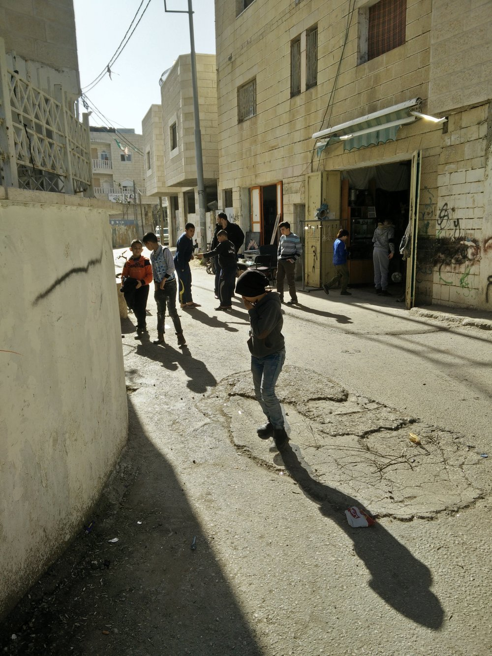 Children playing in the streets. Unfortunately there are virtually no green areas in the camp.