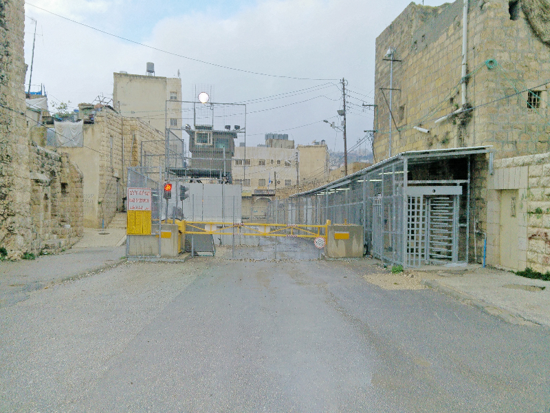 These checkpoints are placed everywhere in Hebron, to control good and people from entering and leaving certain areas.
