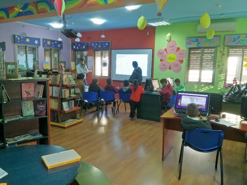 In the Youth Center the children receive language, music, and dance classes and have access to computers.