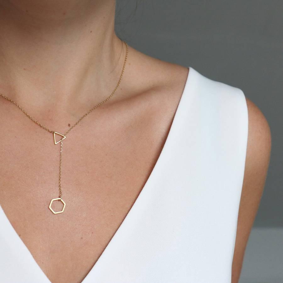 Geometric lariat necklace (£22.00)