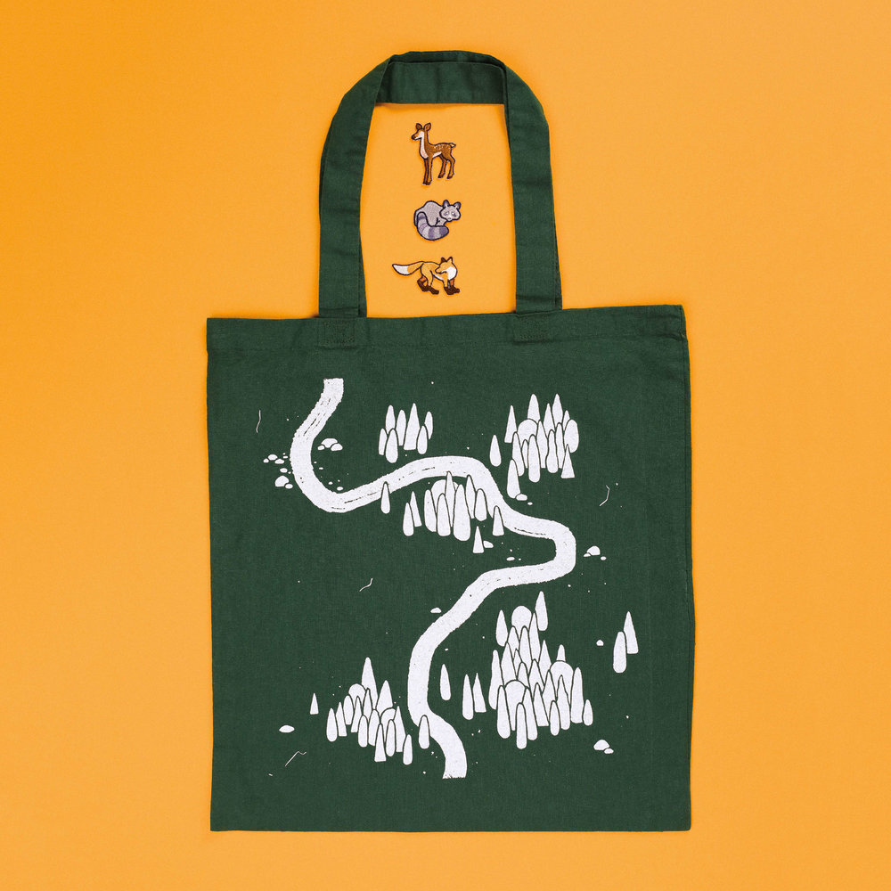 Woodlands Tote + Patches (AU$60)