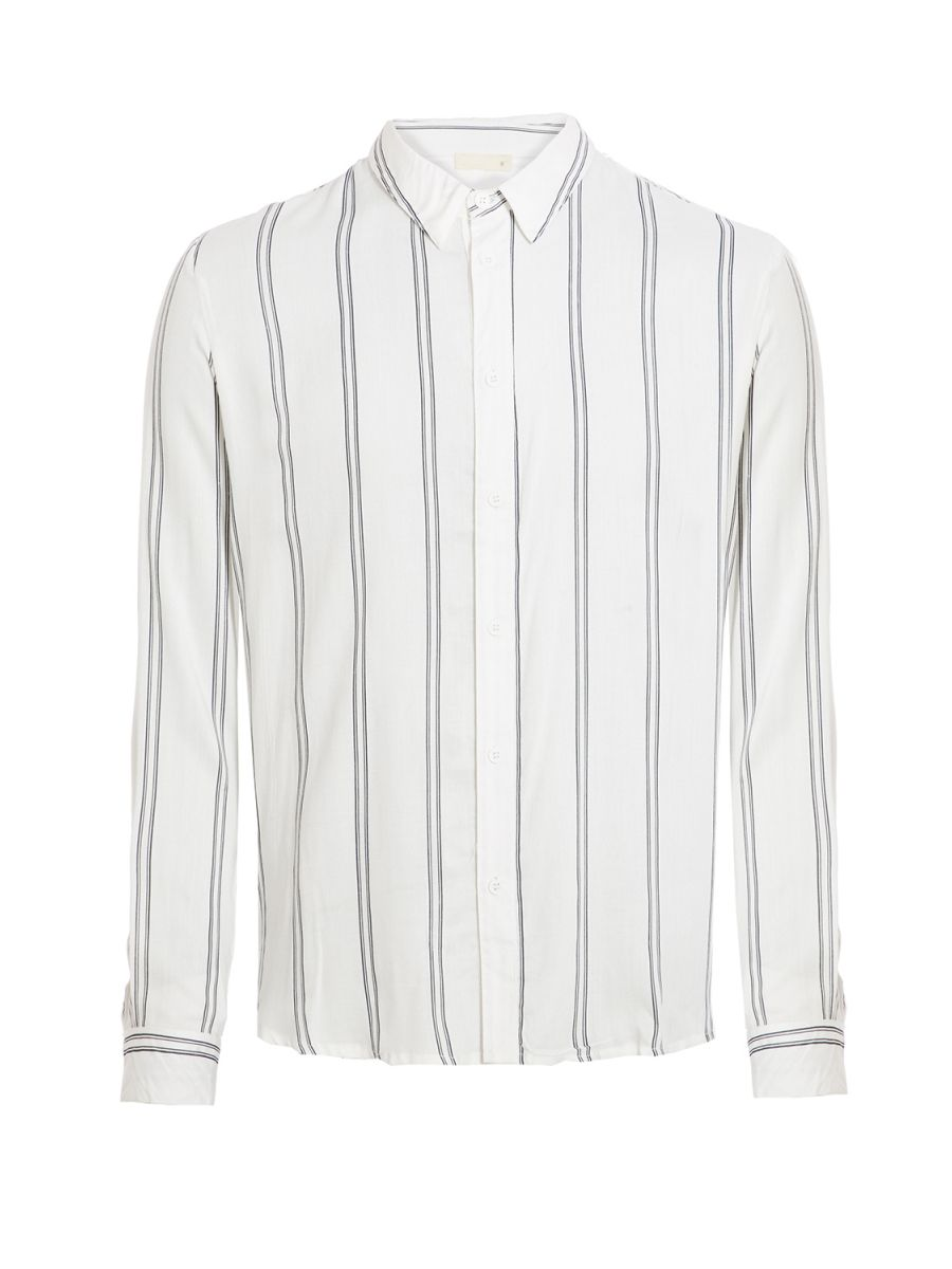 White/Black Striped Viscose Long Sleeve Shirt (£22.99)