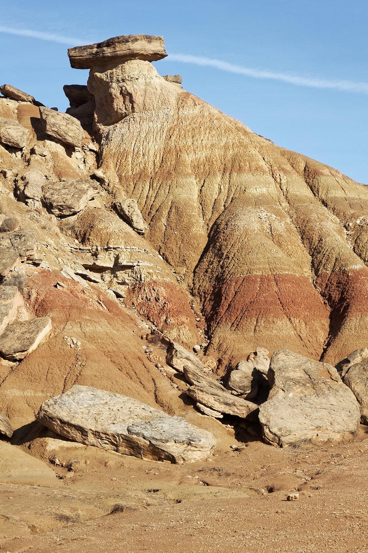 Les strates de roche s'effondrent, Espagne