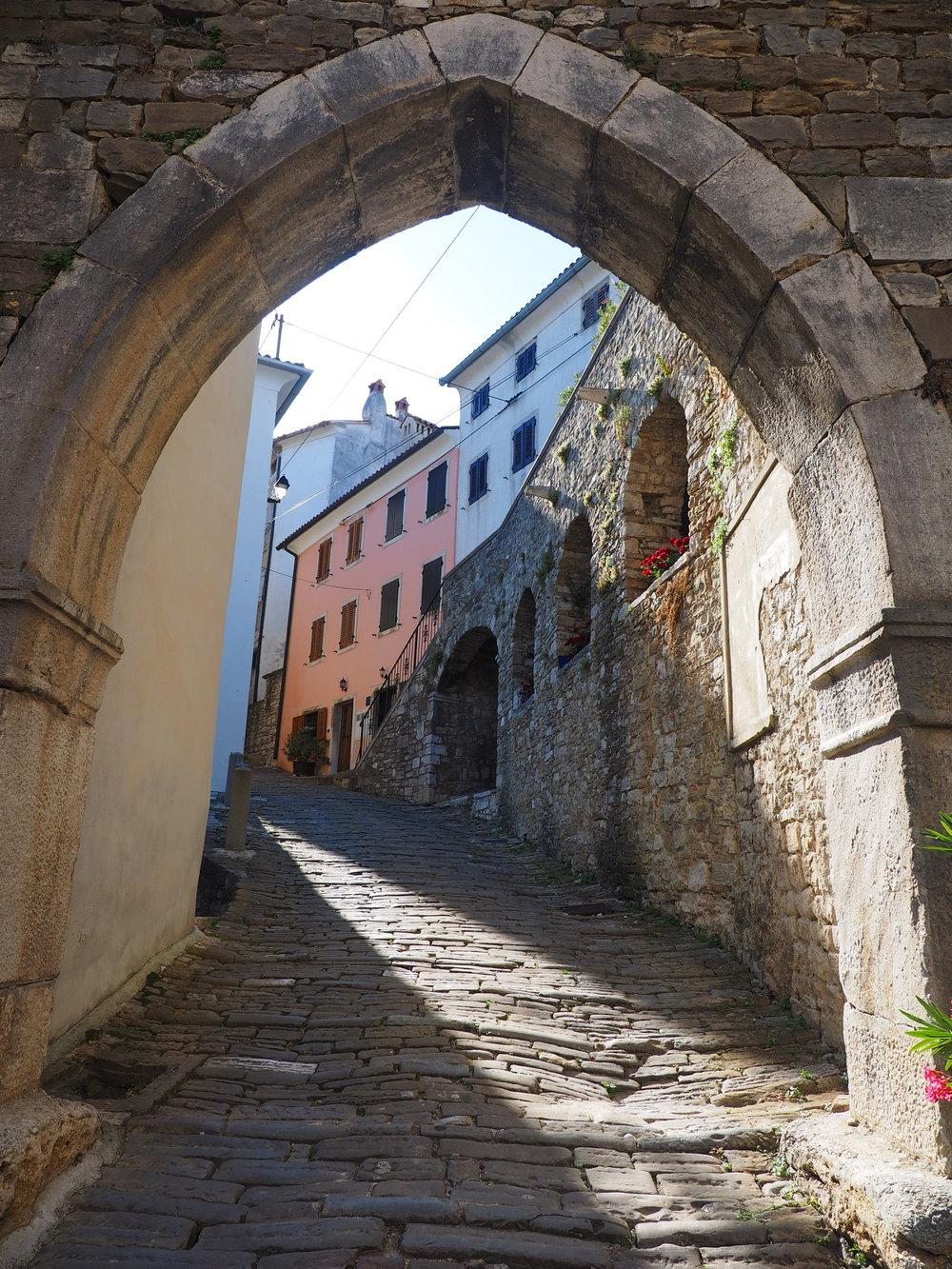 Village de la région d'Istria, Croatie