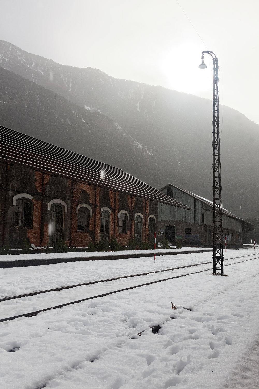 Les bâtiments annexe de la gare, Canfranc