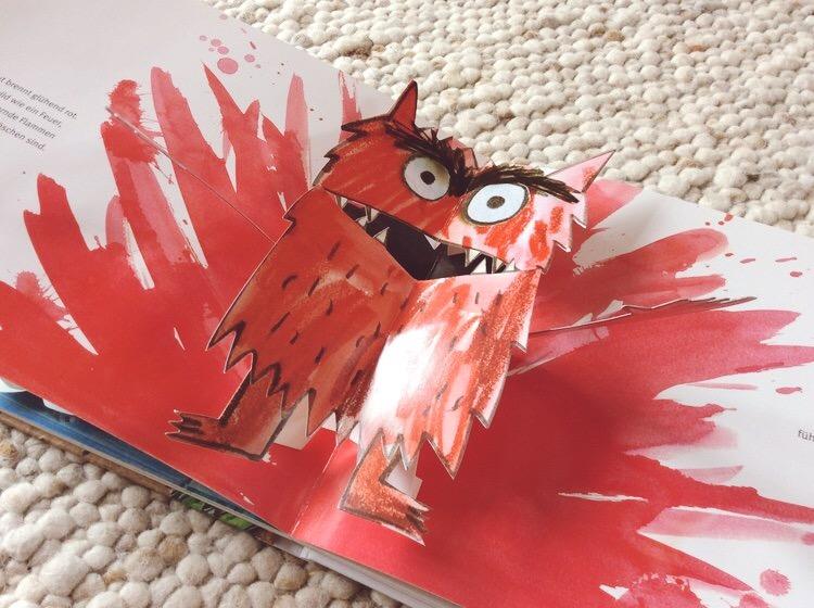 Die rote Wut zeigt sich als Gefühls- und Farbexplosion.