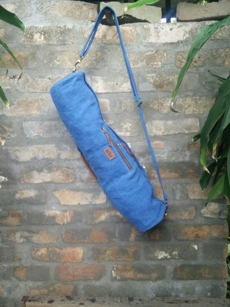 Midnight Blue Yoga mat bag .jpg