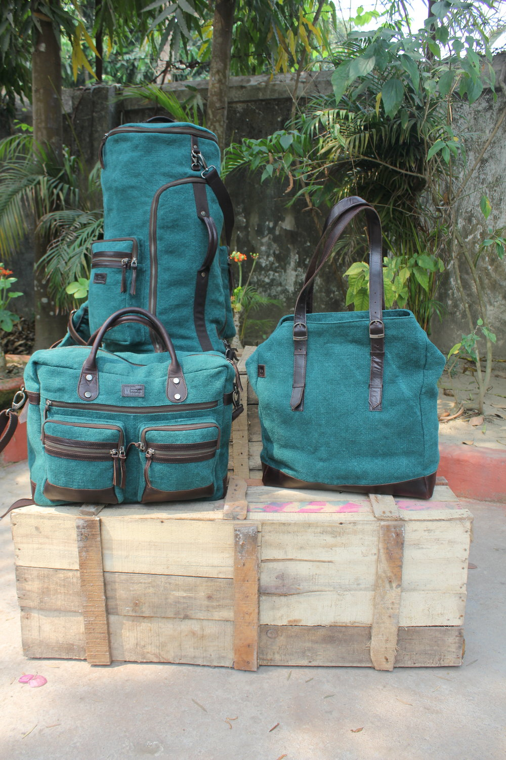 Bottle Green Super Trooper, Boss Bag, Modified Tote.JPG