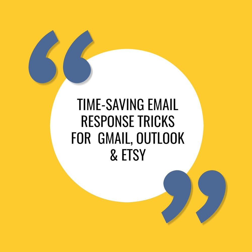 Spend less time responding to your business emails using these time saving features.