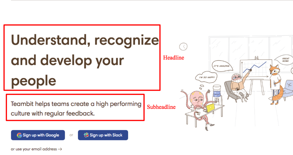 Guidelines for writing great headlines and subheadlines - examples