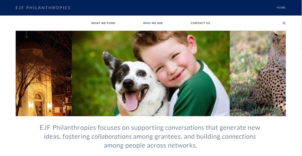 EJF Philanthropies Squarespace Website designed by  Belinda Lee Briggs