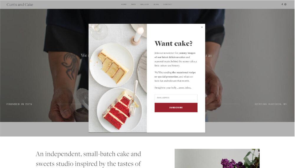 Cake & Sweets Studio Website