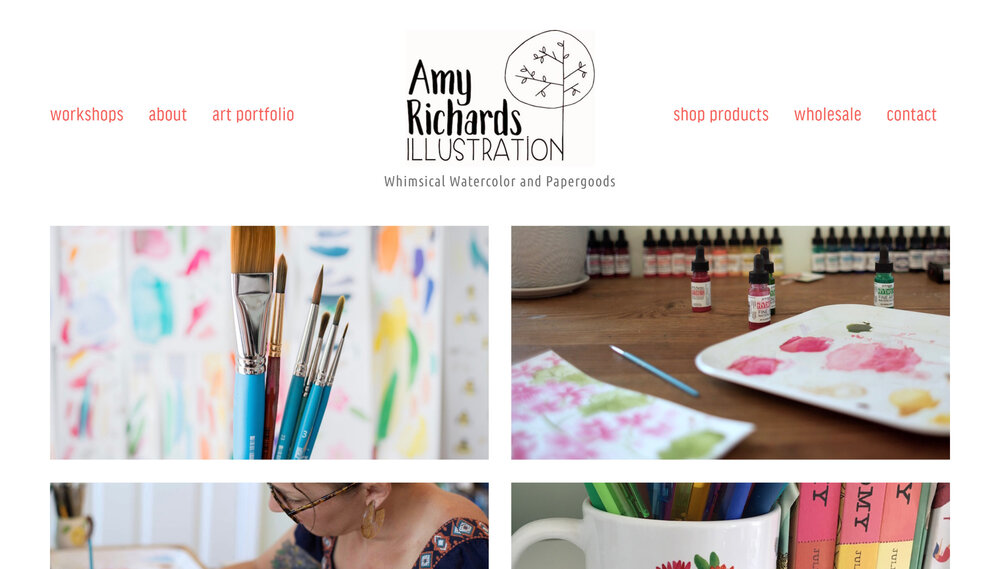 Artist Illustrator with eCommerce, Events and Classes