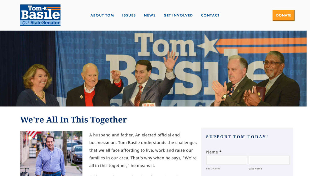 Political Candidate Website