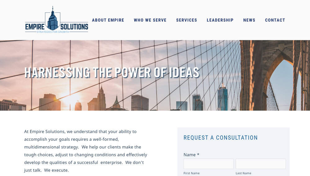 Consulting Group Website