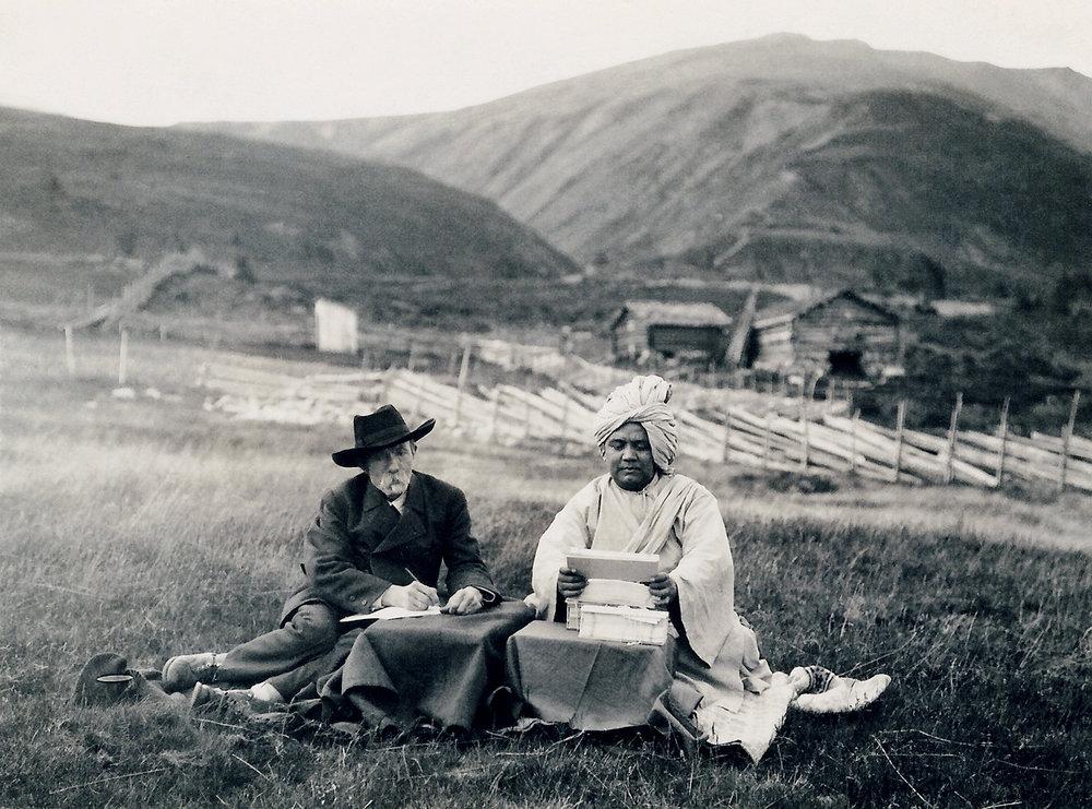 Arne Garborg og Ananda.