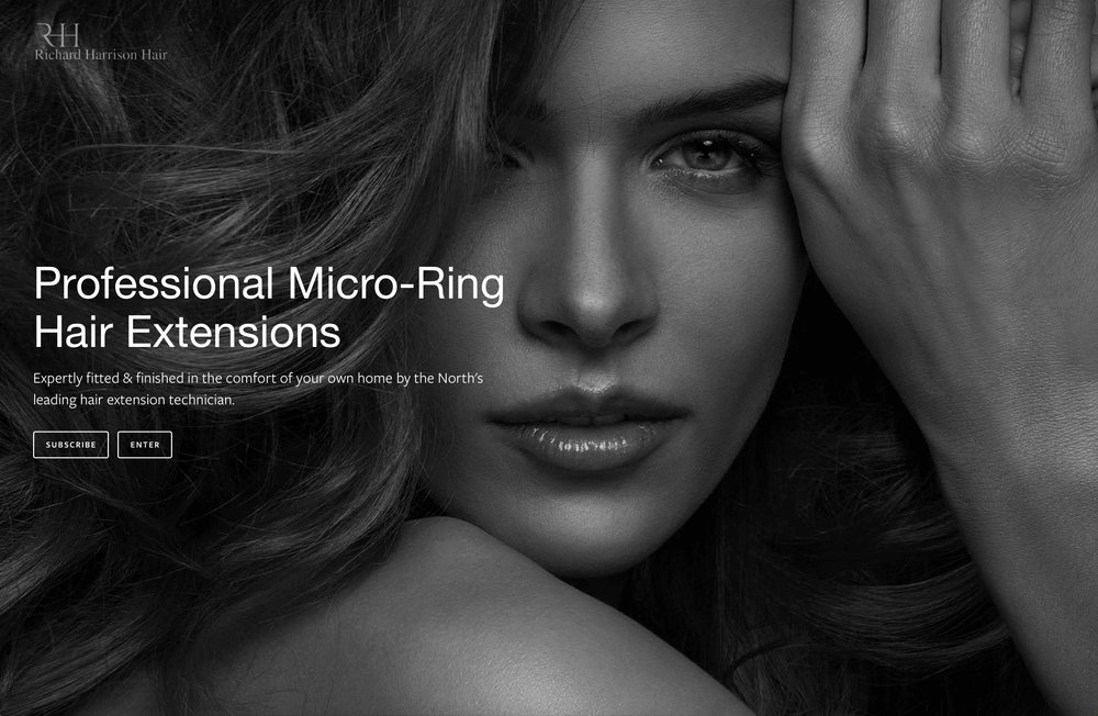 Lithium Design - Small Business Portfolio Richard Harrison Hair 1