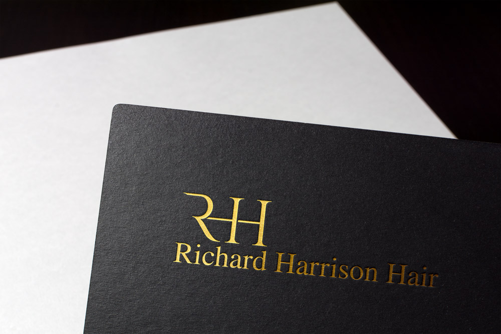 Lithium design created a new stunning brand and logo for Richard Harrison Hair  richardharrisonhair.com
