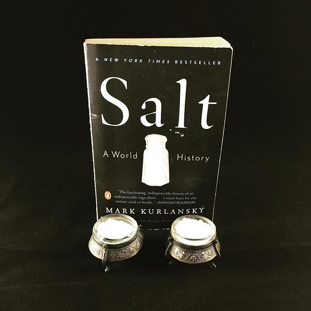 Stop by our website and check out our item of the week: vintage salt dip. If you are looking for an interesting and educational book you never thought you'd want to read, check out Salt by Mark Kurlansky. It's a fascinating look at the importance of salt. . #recommendedreading #itemoftheweek #salt #saltdip #saltcellar #opensalt #vintage #russian #ussr #soviet