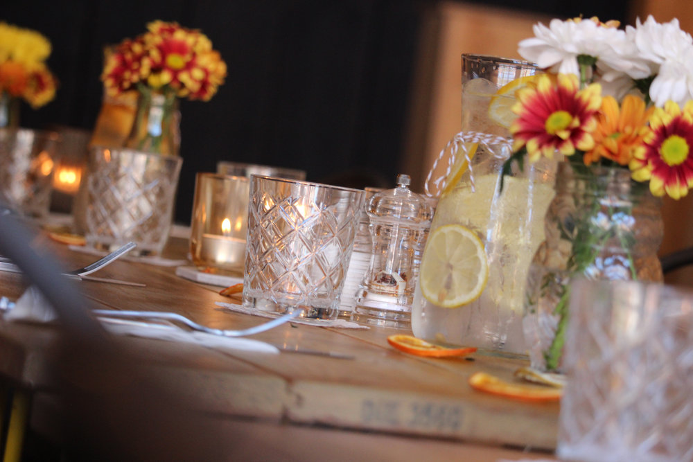 Burnt Orange Wedding Table Decor