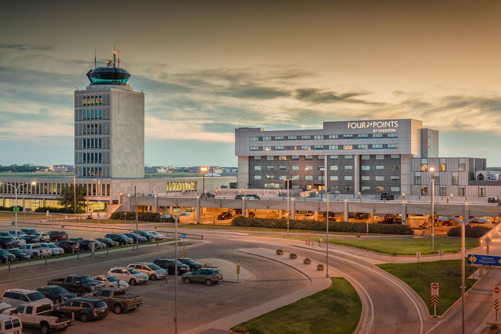 Building a new parkade included redeveloping traffic systems throughout the airport vicinity and resolving security concerns.