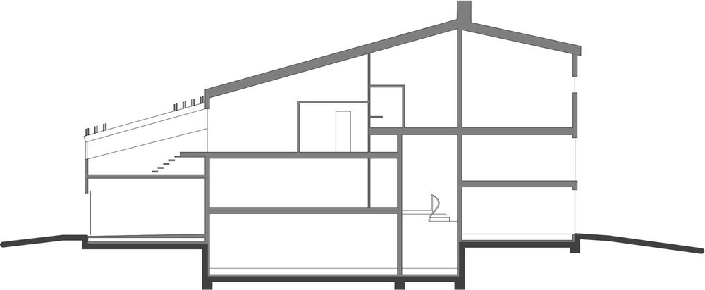 First, second and third floor sections.