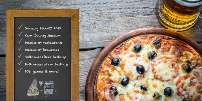 Bakersfield Pizza and Beer Festival - January 26th & 27th @ 2pm, Kern County MuseumThis might contradict all your promises to get healthy in the New Year, but who can resist a good festival at the Kern County Museum? We love seeing local breweries, pizzerias, food trucks and restaurants come together to share their favorites!
