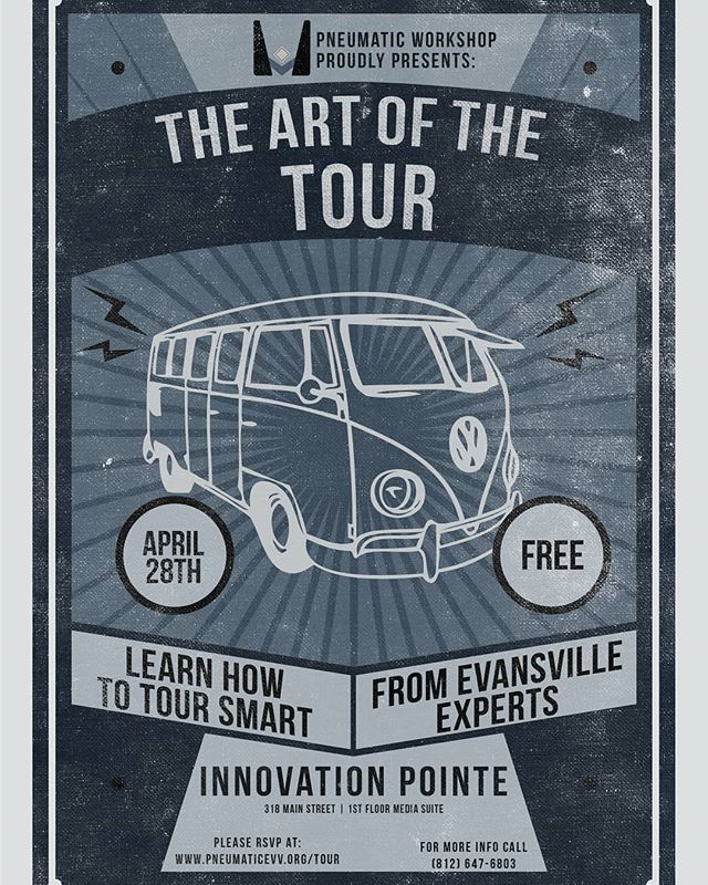 We are proud to announce The Art of the Tour! A workshop covering all aspects of touring presented by a panel of experienced working artists. Be sure to RSVP at the link in our bio.