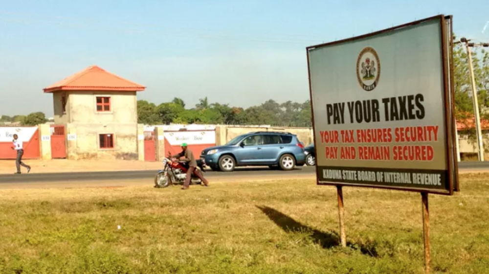 A billboard urges people to pay taxes in Nigeria. Photo by:  Allan Leonard  /  CC BY-NC-ND