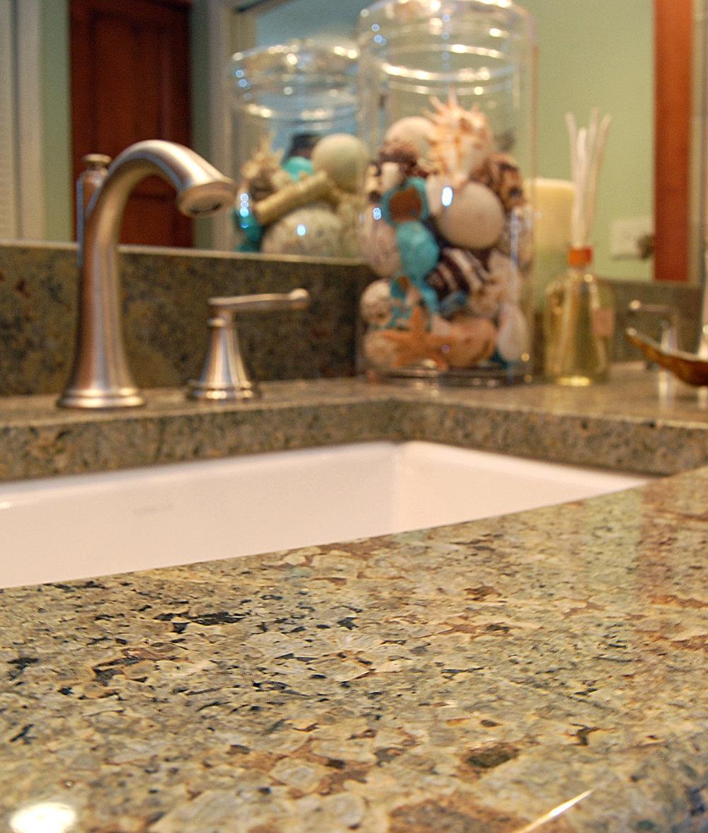 Seafoam Green granite for cabinetry