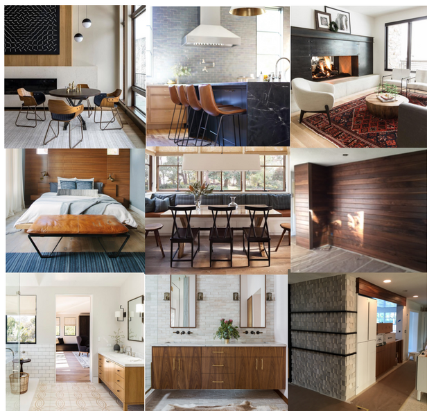 Sources Top L to R: Jennifer Hoey Interior Design, CBC Builds, Studio McGee Middle L to R: Phoebe Joy Photography, unknown, Bee Studios Bottom L to R: unknown, Kallista, Bee Studios