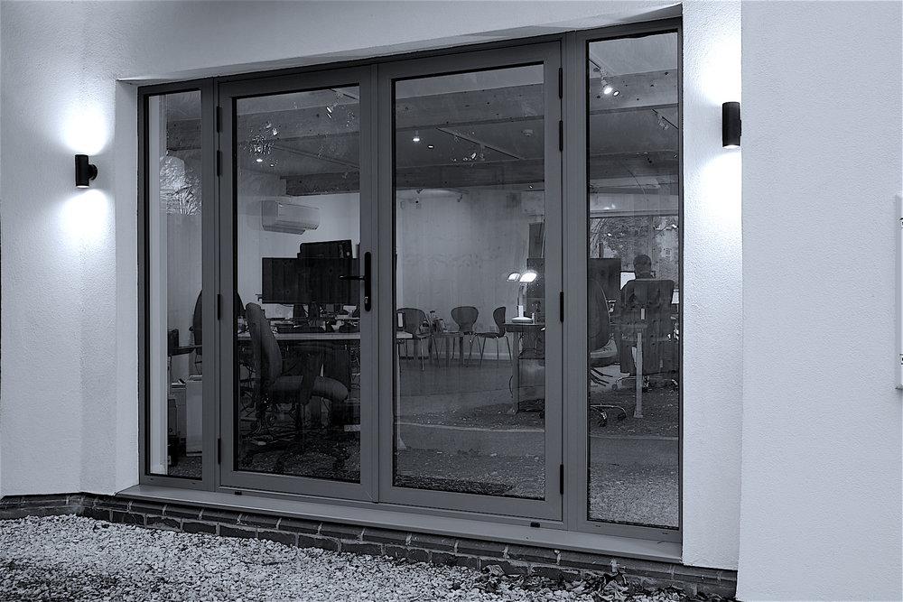 Glos Info external aluminium glazed facade