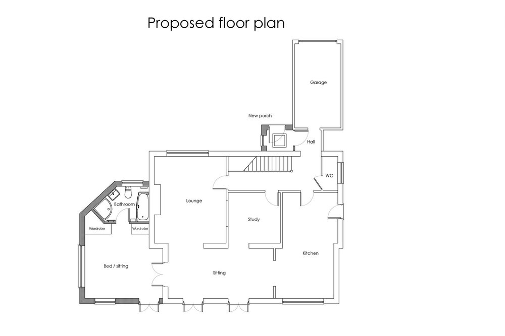 existing proposed floor plans 8 Monks Park rev1.jpg