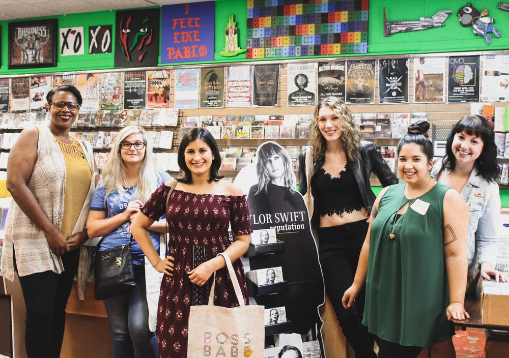 WE HOSTED AN ALBUM LISTENING PARTY FOR WOMEN ENTREPRENEURS AT DADDY KOOL RECORDS IN 2017. WE RAISED FUNDS AND AWARENESS FOR TRUSTING THE PROCESS. PHOTO BY CAITLYN CONNOLLY OF LIVE.SWEAT.SLEEP.REPEAT.