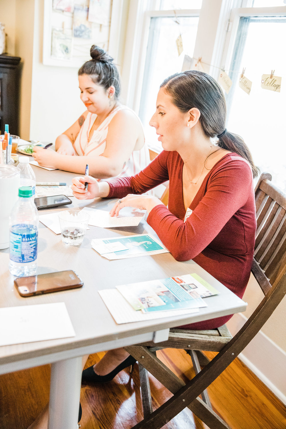 Pictured: (Right to Left) Francessca Randall of Lombardo Team Real Estate and Gina Moccio of Babe Crafted // Location: The Paper Seahorse // Photo by Jessica Fredericks Photography