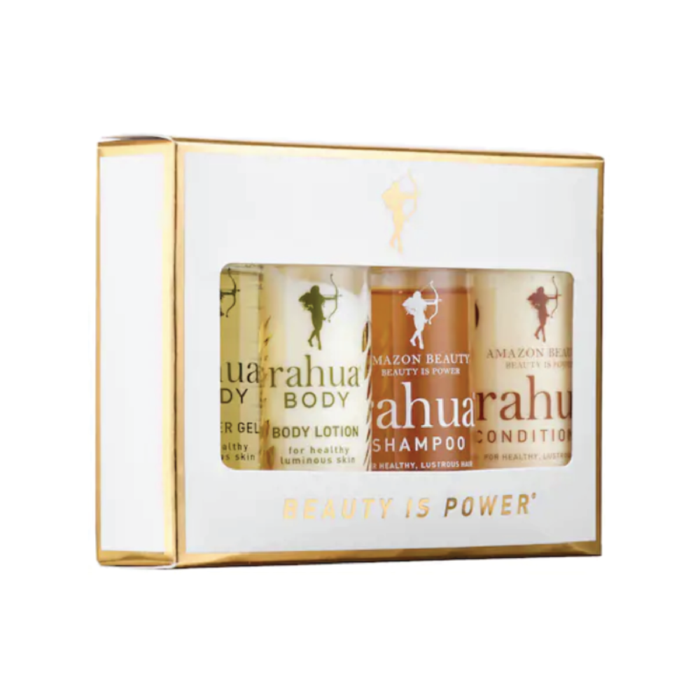 Rahua Jet Setter Hair & Body Kit - $40 at SephoraThis set is the perfect clean beauty buy for someone on your list who loves luxury and travel. It includes a mini shampoo, conditioner, body wash and lotion.