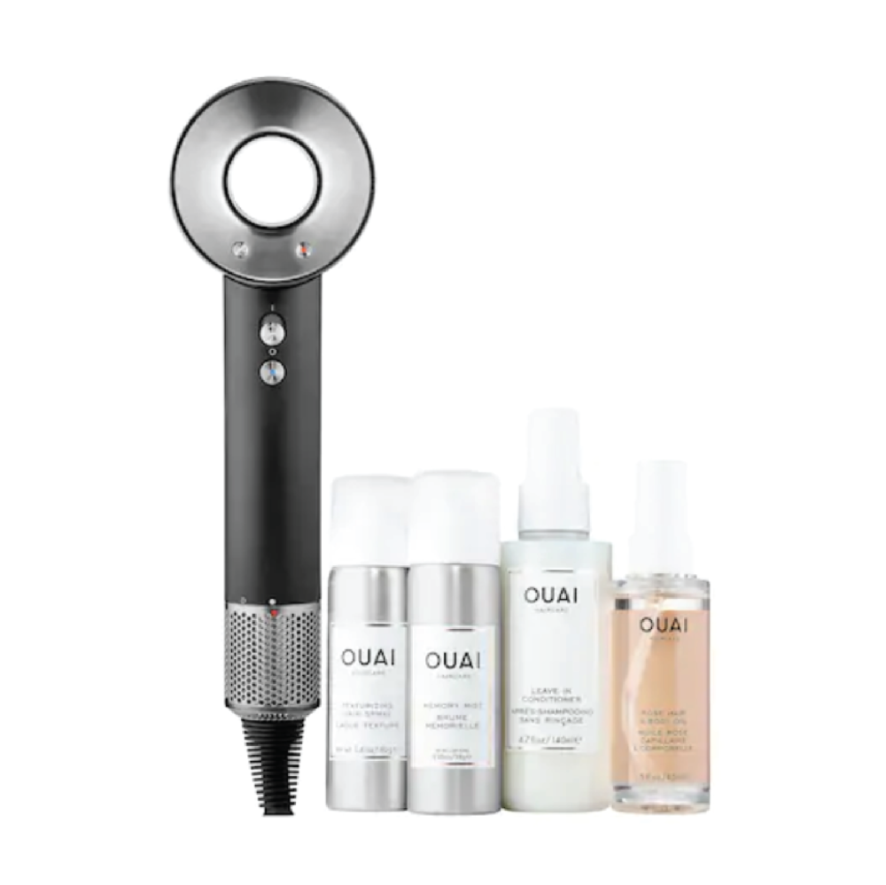 Dyson Blown-a-OUAI Noir Set - $399 at SephoraThey use this blowdryer at my salon and I am crazy impressed every time. It's insanely quiet and dries like a dream. Pair it with products from Ouai and it's a perfect splurge.