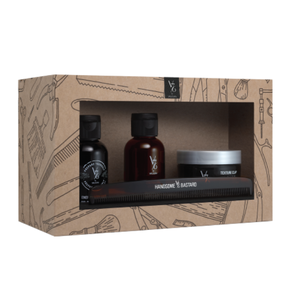 V76 by Vaughn Handsome Bastard Grooming Kit - $32 at Birchbox ManSuch a chic travel kit, this set comes with great smelling products and a comb.