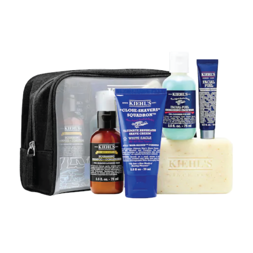 Kiehl's Men's Grooming Essentials - $48 at SephoraKiehl's is a classic, trusted brand for both men and women. I love how this comes with some great starters and a travel bag.