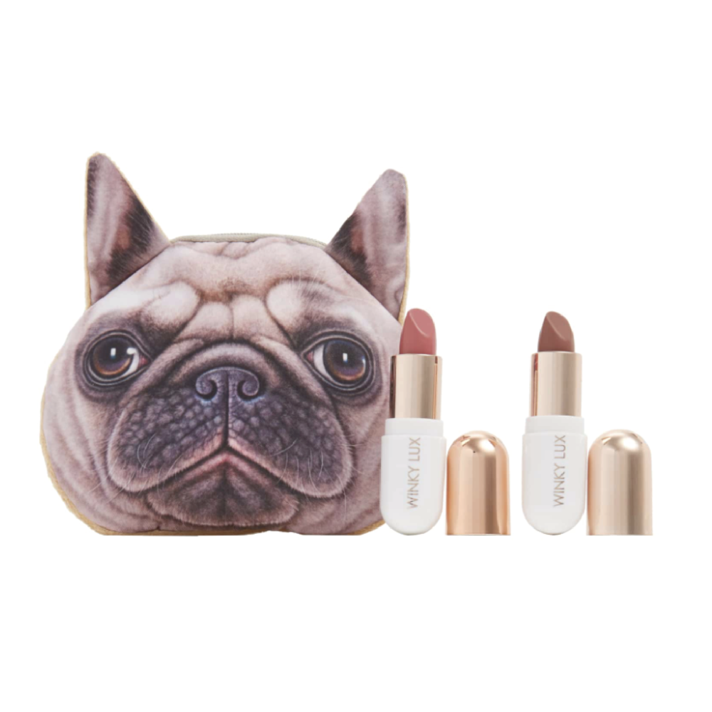 Winky Lux Pug Lip Kit - $24 at NordstromA fun take on a giftable makeup set, these Winky Lux lipsticks come in the cutest pug makeup bag.