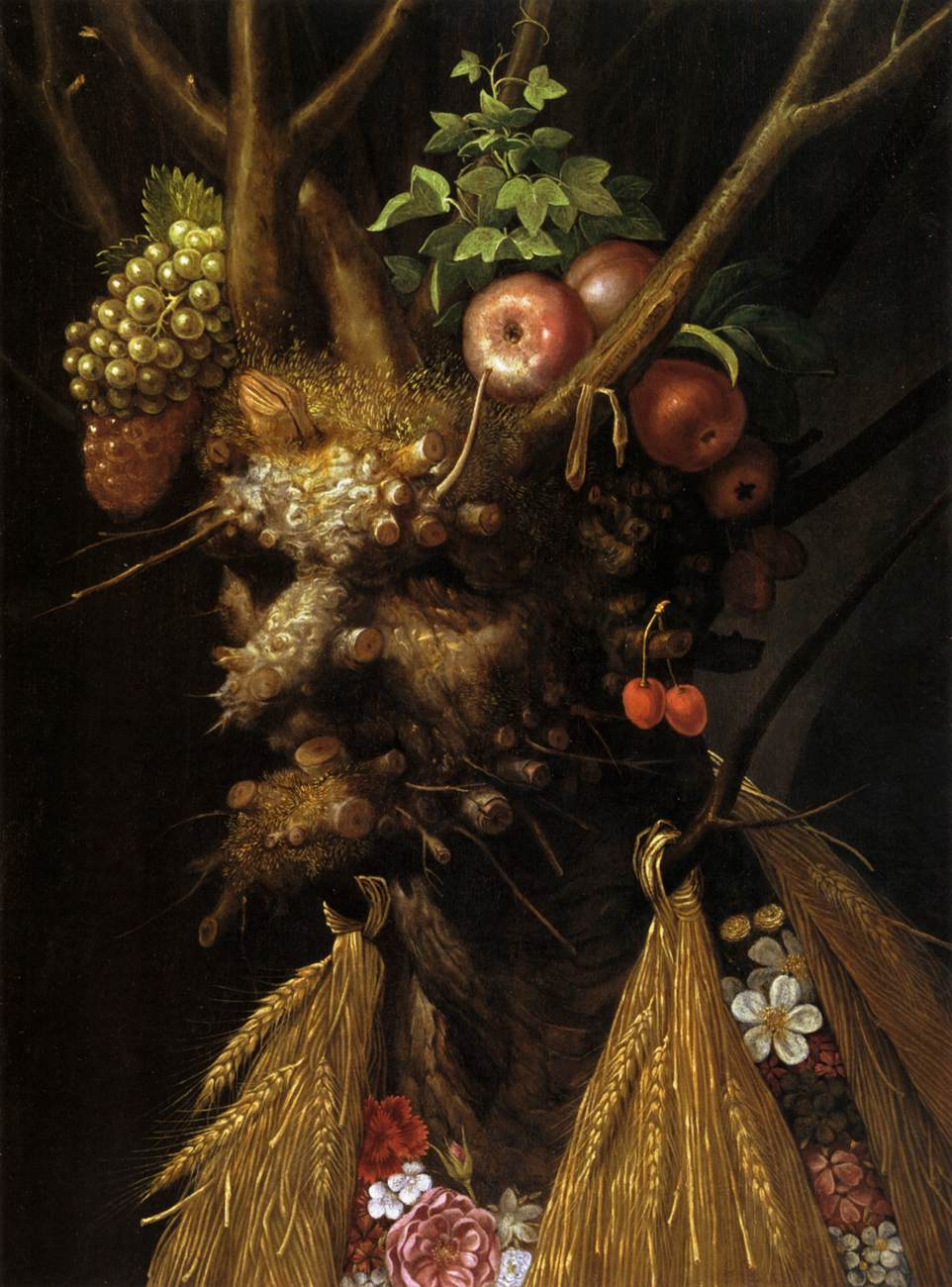 Arcimboldo,  The Four Seasons in one Head