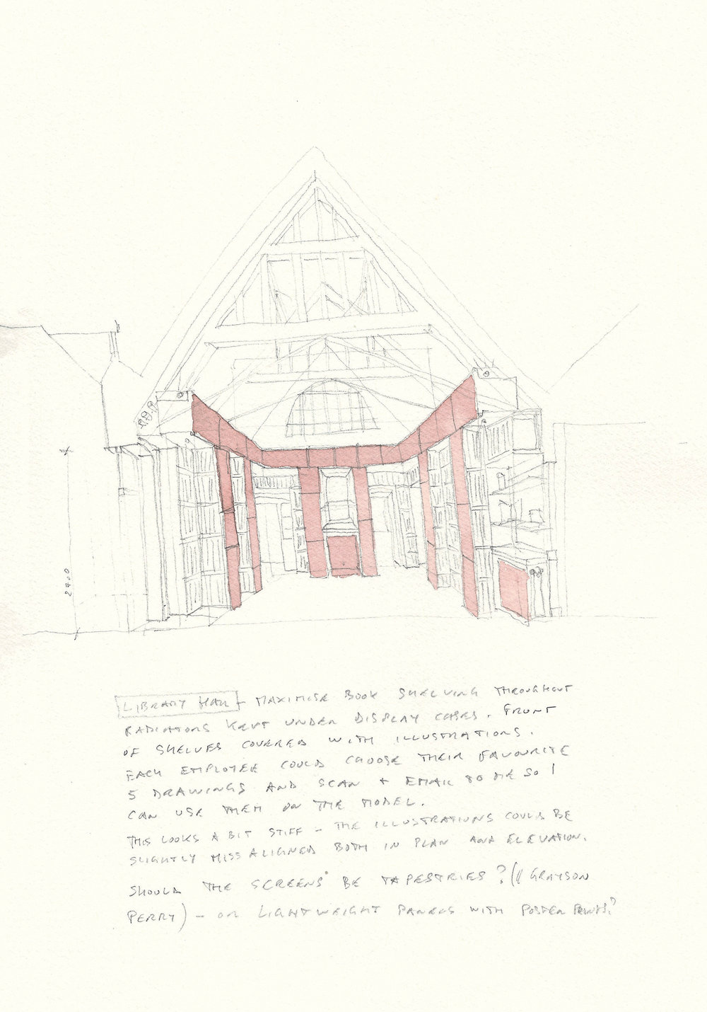 Original concept sketch for the library