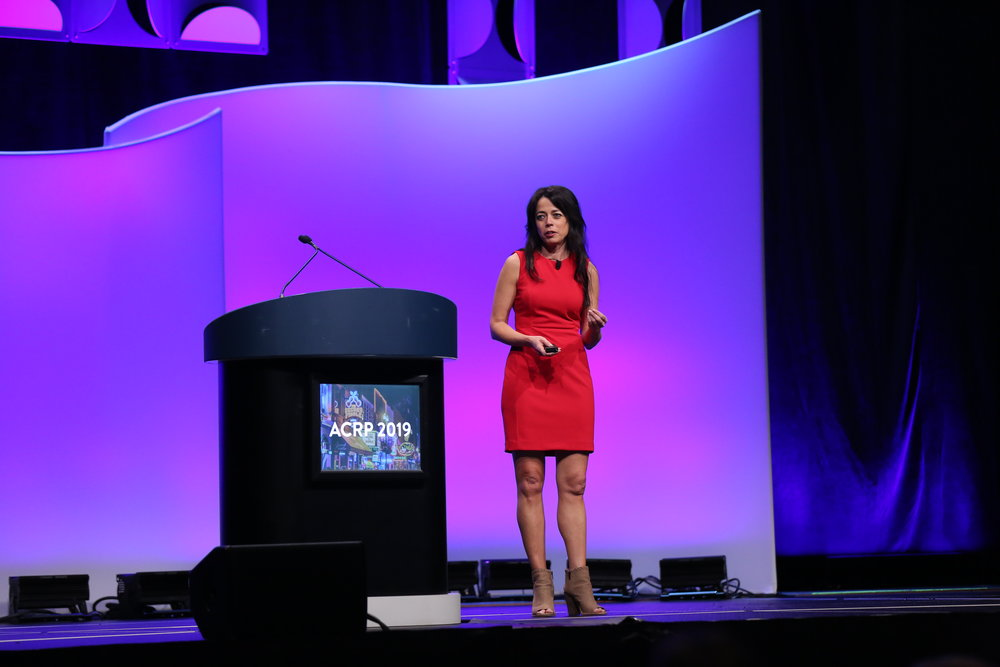 """""""Folks like you are the lighthouse, you are the hope,"""" healthcare advocate, author, and mom speaking to ACRP 2019 attendees on Saturday, April 13."""