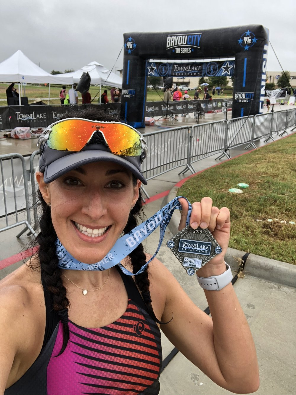 Post race selfie with my medal