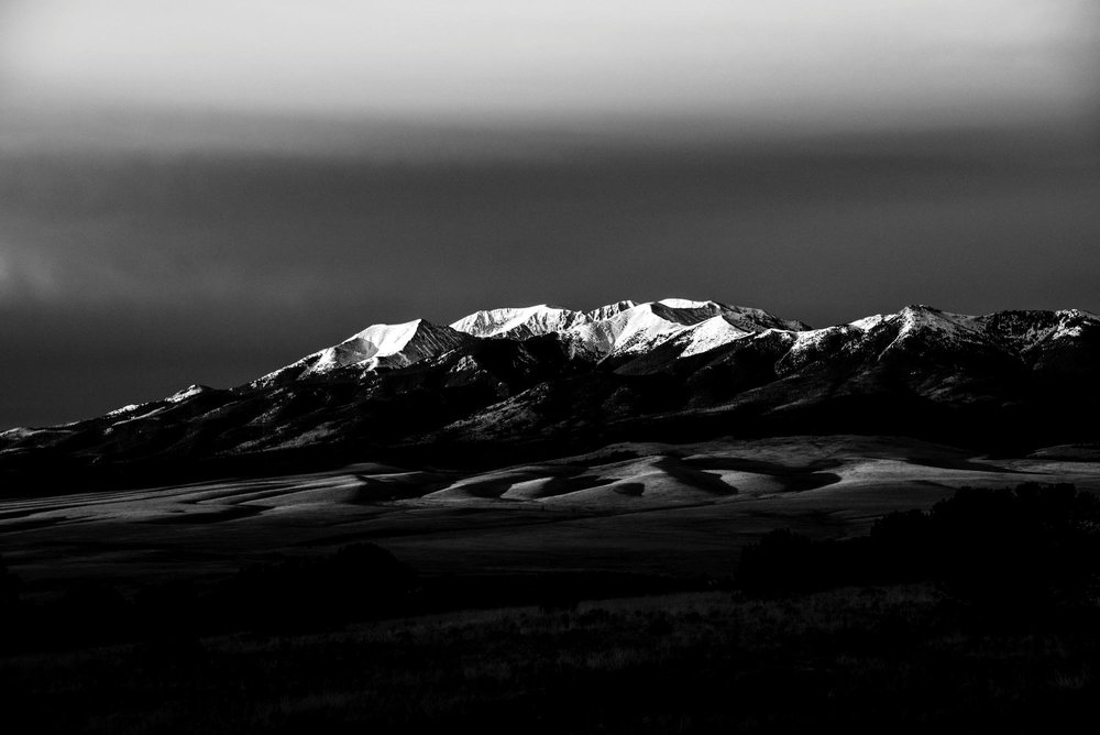 Mount Herard Sunrise B&W