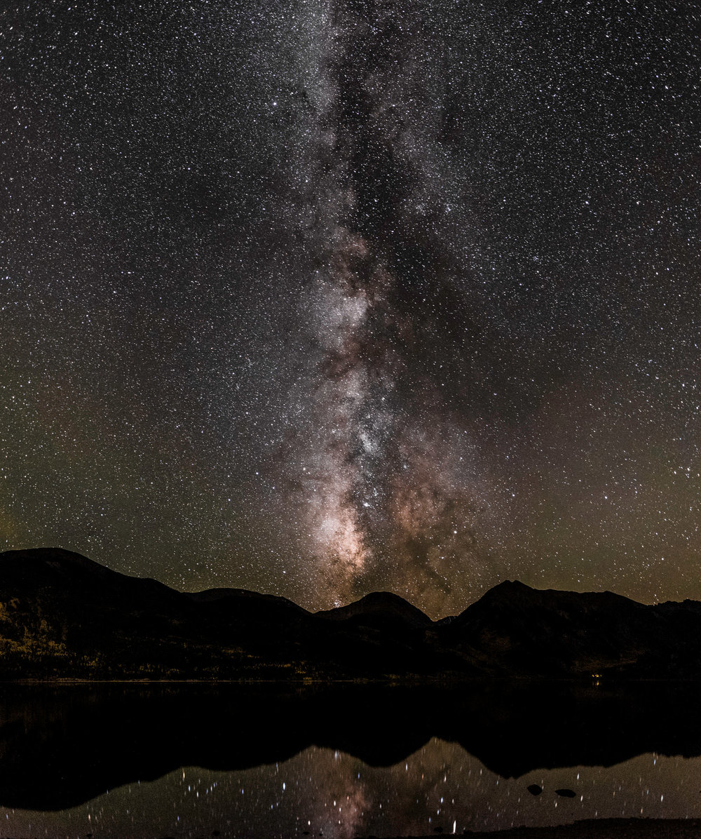 Milky Way over Twin Lakes