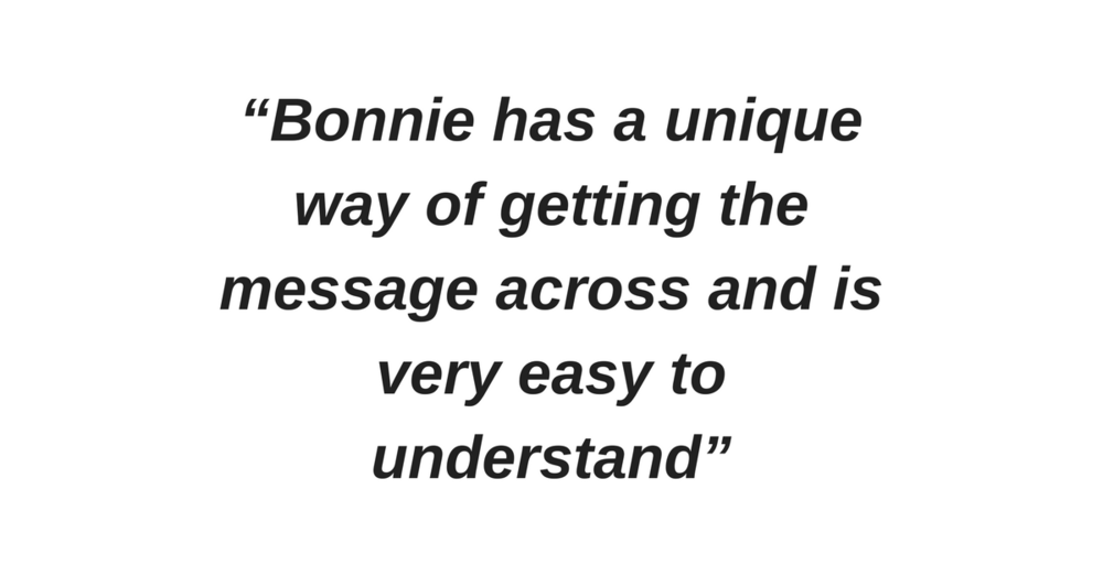 """""""Great presentation, Bonnie was powerful and it was a wonderful training """" (1).png"""