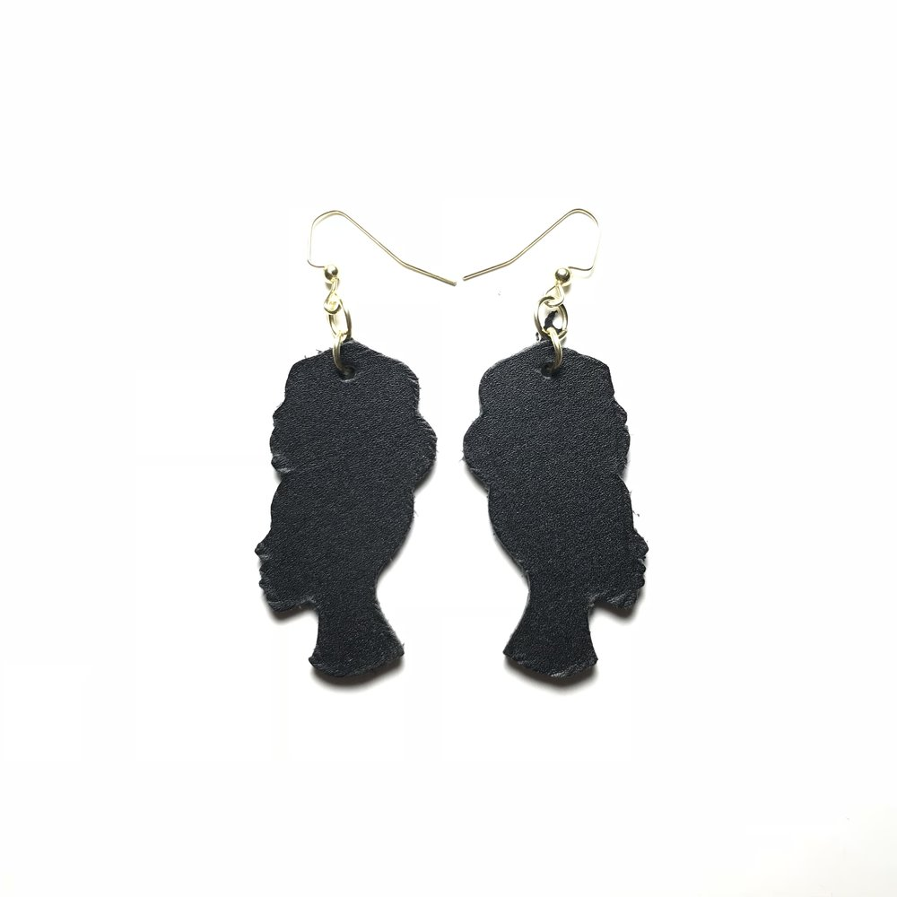 Silhouette Leather Earrings -